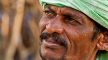 Green Turban Village Man